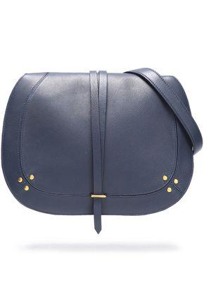 JÉRÔME DREYFUSS Ring-embellished pebbled-leather shoulder bag