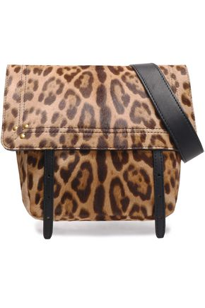 JÉRÔME DREYFUSS Leopard-print calf hair shoulder bag
