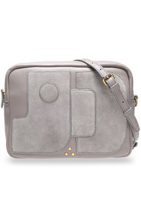 JÉRÔME DREYFUSS Leather and suede shoulder bag