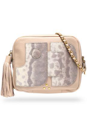JÉRÔME DREYFUSS Karung-paneled tasseled leather shoulder bag