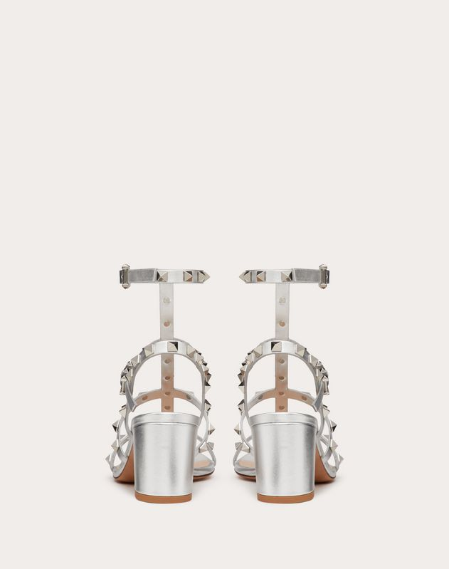 Metallic Cage Rockstud Sandal 60mm