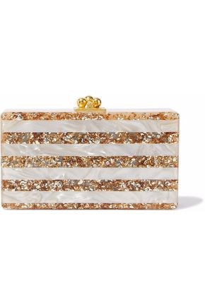 6a4938a9cc Jean striped marbled acrylic box clutch | EDIE PARKER | Sale up to ...
