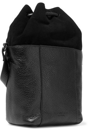 HALSTON HERITAGE Textured-leather and suede bucket bag