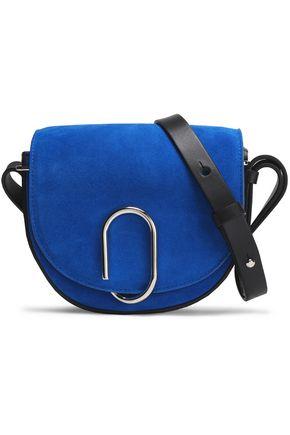 3.1 PHILLIP LIM Leather-trimmed embellished suede shoulder bag