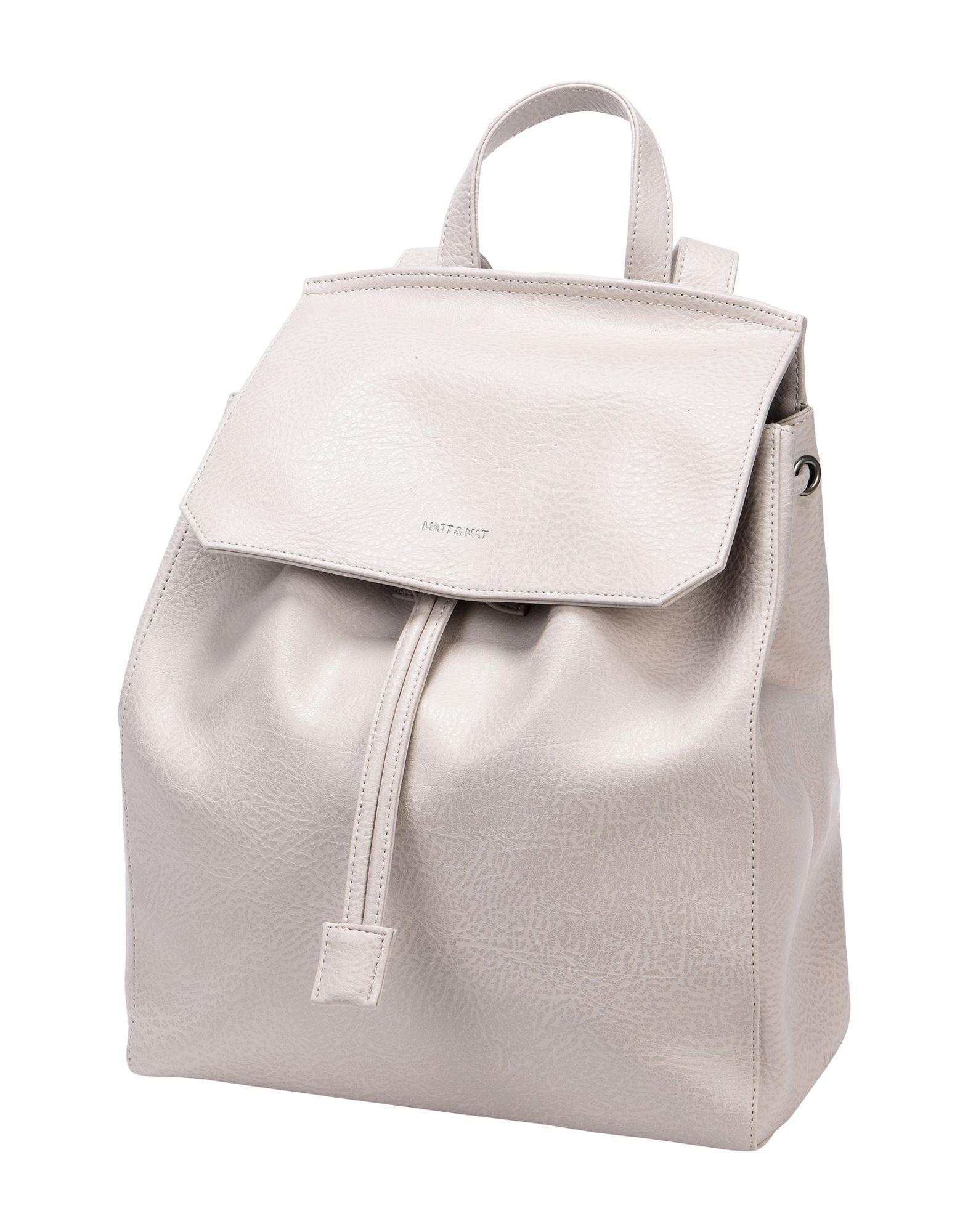 MATT & NAT Backpack & Fanny Pack in Light Grey