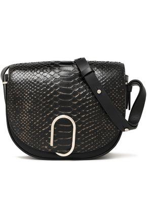 3.1 PHILLIP LIM Python-paneled leather shoulder bag