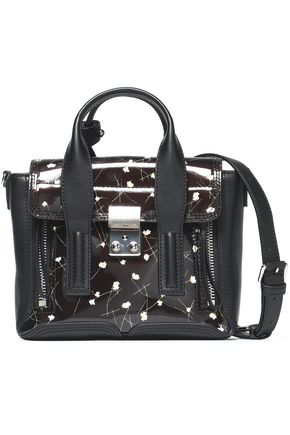 3.1 PHILLIP LIM Mini floral-print patent-leather shoulder bag