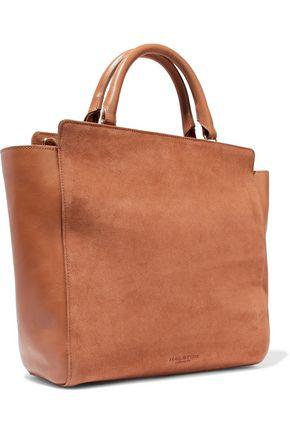 HALSTON HERITAGE Paneled suede and leather shoulder bag