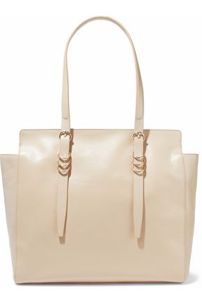 HALSTON HERITAGE Ring-embellished textured-leather tote