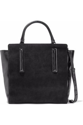 HALSTON HERITAGE Nubuck and crinkled leather tote