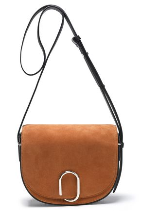 3.1 PHILLIP LIM Leather-trimmed suede shoulder bag