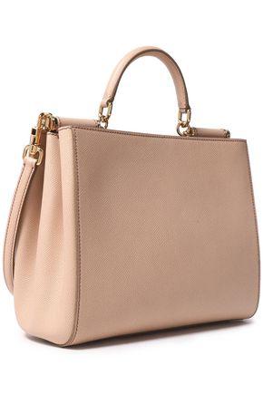 ... DOLCE   GABBANA Textured-leather shoulder bag 6cdd0b6795b9f