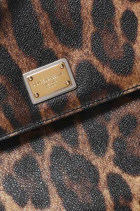 ... shoulder bag  DOLCE   GABBANA Miss Sicily leopard-print textured-leather  shoulder ... 82c81ae702eaa