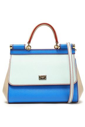 0f7a15ccbf0 Sicily color-block textured-leather shoulder bag | DOLCE & GABBANA ...