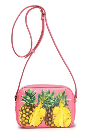 DOLCE & GABBANA Printed pebbled-leather shoulder bag