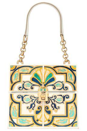 DOLCE & GABBANA Painted wood shoulder bag