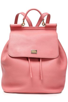 DOLCE & GABBANA Textured-leather backpack