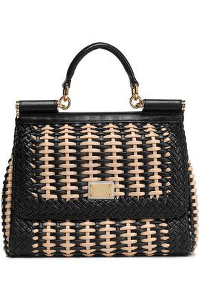 DOLCE & GABBANA Mini woven leather shoulder bag