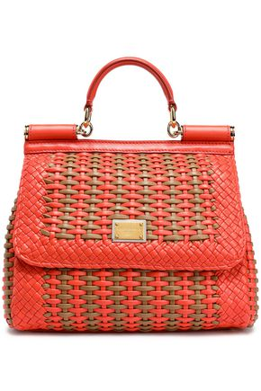 DOLCE & GABBANA Mini woven leather shoulder bag