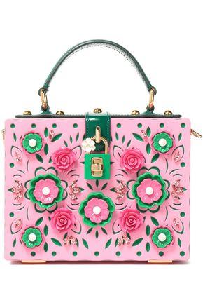 DOLCE & GABBANA Dolce Box embellished laser-cut acrylic shoulder bag