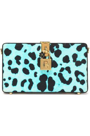 DOLCE & GABBANA Leopard-print leather box clutch