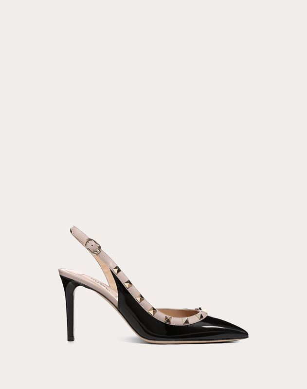 Patent Leather Slingback Pump 85mm