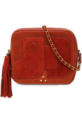 JÉRÔME DREYFUSS Tasseled paneled leather and suede shoulder bag