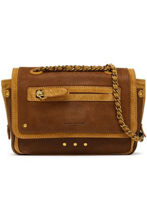 JÉRÔME DREYFUSS Benji suede and leather shoulder bag