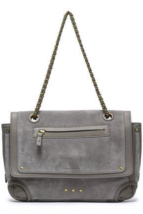 JÉRÔME DREYFUSS Leather and suede shoulder bag