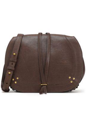 JÉRÔME DREYFUSS Ring-embellished textured-leather shoulder bag