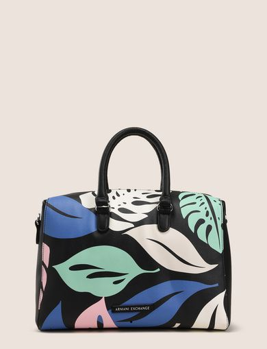 MEDIUM LEAF PRINT SATCHEL