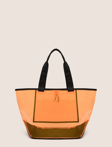 NEON TRANSPARENT BEACH TOTE