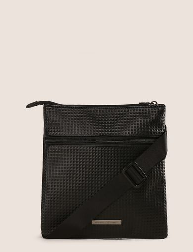 EMBOSSED PYRAMID CROSSBODY