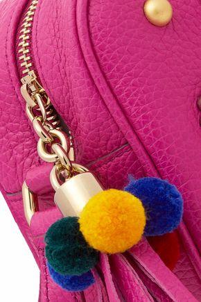 DOLCE & GABBANA Glam embellished textured-leather shoulder bag