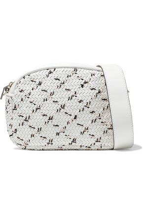 MAJE Basketweave leather shoulder bag