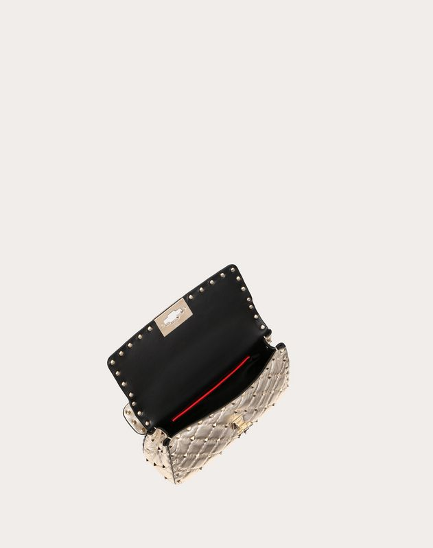 Small Rockstud Spike Metallic Bag