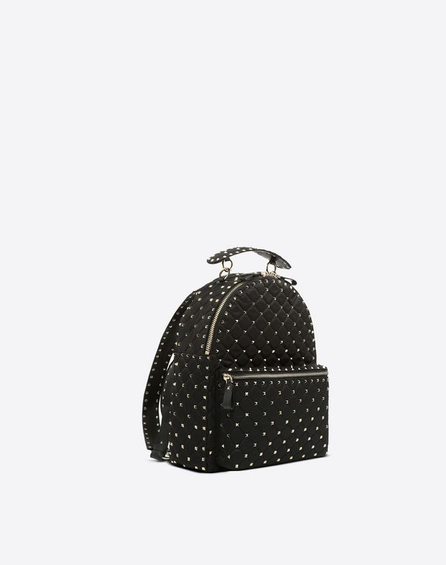 Nylon Rockstud Spike Backpack
