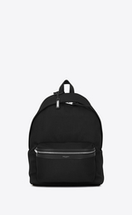 City Backpack In Canvas by Saint Laurent