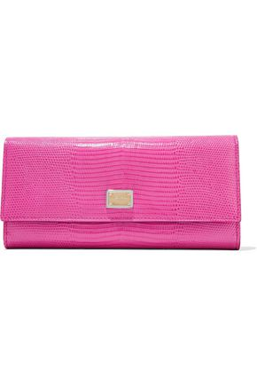 DOLCE & GABBANA Lizard-effect leather continental wallet