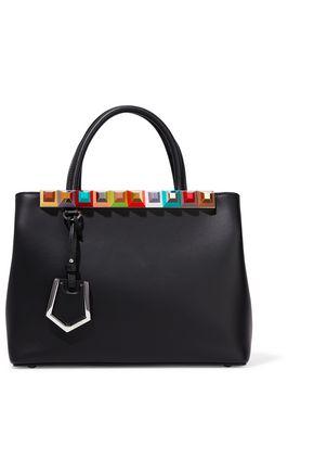FENDI Petite 2 Jours studded leather shoulder bag