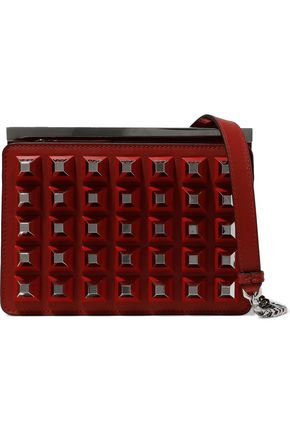 FENDI Studded leather shoulder bag