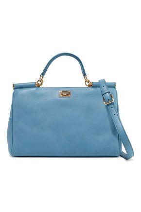WOMAN LEATHER SHOULDER BAG LIGHT BLUE