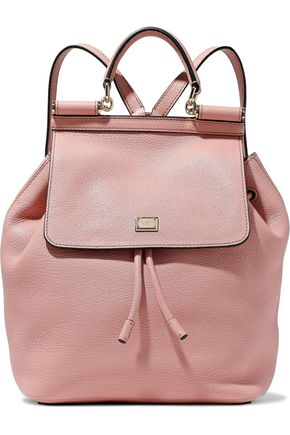 0bc3f9f101 DOLCE   GABBANA Sicily pebbled-leather backpack ...