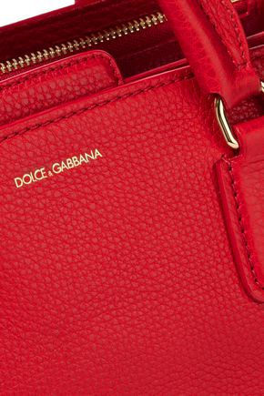 DOLCE & GABBANA Textured-leather shoulder bag