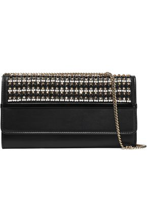 LANVIN Beaded leather clutch