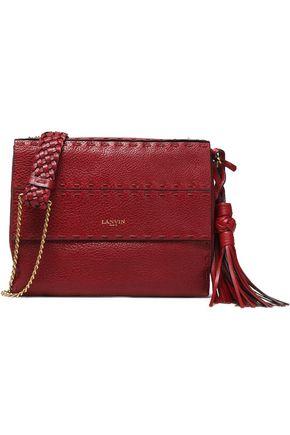 LANVIN Tasseled textured-leather shoulder bag