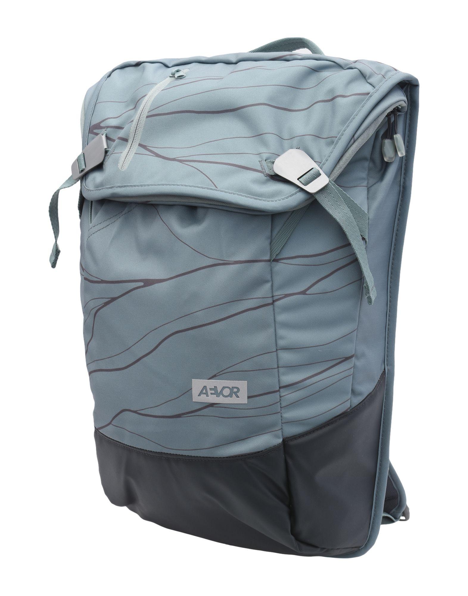 《セール開催中》AEVOR Unisex バックパック&ヒップバッグ グリーン 紡績繊維 DAYPACK