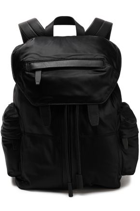 leather-trimmed-satin-twill-backpack by alexander-wang