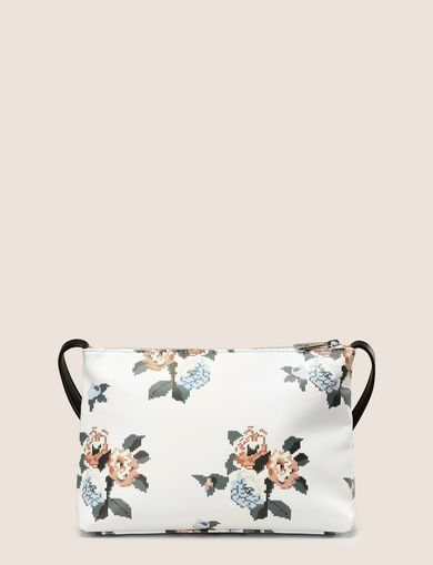 CROSS-STITCH FLORAL PRINTED SHOULDER BAG