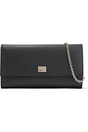 DOLCE & GABBANA Pebbled-leather shoulder bag